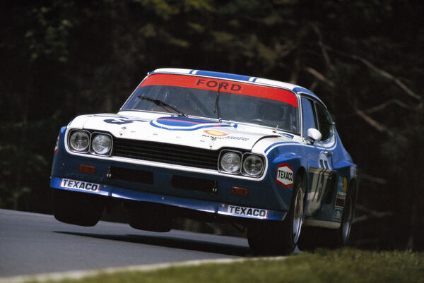 NuRBURGRING, GERMANY - MAY 27: Dieter Glemser / Jochen Mass, Ford, Ford Capri RS during the Nurburgring 1000 kms at Nurburgring on May 27, 1973 in Nurburgring, Germany. (Photo by Rainer Schlegelmilch)
