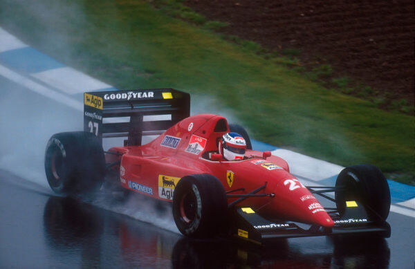 1992 Spanish Grand Prix.  Barcelona, Spain.  1-3 May 1992.  Jean Alesi (Ferrari F92A) 3rd position.  Ref-92 ESP 20.  World Copyright - LAT Photographic
