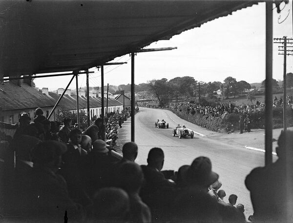 1933 Tourist Trophy. BROOKLANDS, UNITED KINGDOM - SEPTEMBER 02: Fans watch