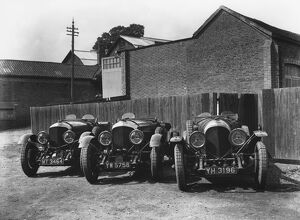 1929 Le Mans 24 hours - Bentley: Old No 1 Speed Six and two 4