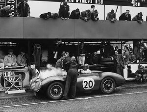 1953 Tourist Trophy: Peter Collins/Pat Griffith, 1st position, pit stop due to overheating