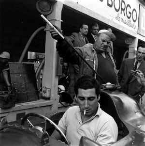 1956 French Grand Prix, Reims. Alfonso de Portago: 2003 Racing Past... Exhibition