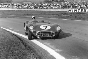 1958 RAC Tourist Trophy: Stirling Moss / Tony Brooks, 1st position, action