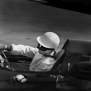 1959 Monaco Grand Prix: Stirling Moss, retired, action