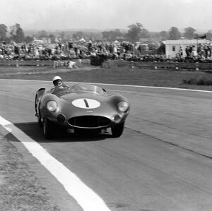 1959 Tourist Trophy: Stirling Moss/Roy Salvadori, retired, action. Ref: 4997