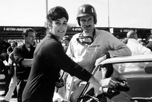 1962 RAC Tourist Trophy: Graham Hill, 2nd position, with wife Bette Hill, portrait
