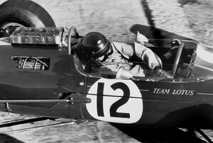 1964 Monaco Grand Prix - Jim Clark: Jim Clark, Lotus 25-Climax, 4th position, action