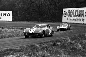1965 Tourist Trophy: Frank Gardner, 10th position, leads Mike Salmon, 12th position