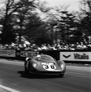 1966 Tourist Trophy: David Piper, 9th position, action
