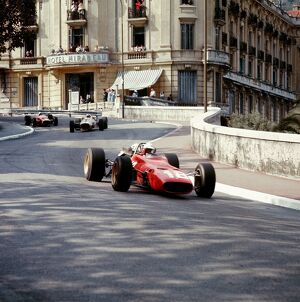 1967 Monaco Grand Prix: Lorenzo Bandini leads John Surtees