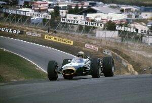 1967 Race Of Champions: Jack Brabham, 9th position, action