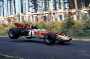 1969 German Grand Prix: Graham Hill, Lotus 49B Cosworth - 4th place