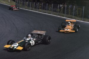 1969 Mexican Grand Prix - Jack Brabham, Denny Hulme and Jochen Rindt