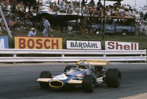 1970 South African Grand Prix: Jack Brabham, 1st position, action