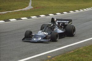 1974 Brazilian Grand Prix: Jean-Pierre Jarier. Shadow-Ford DN1, retired, action