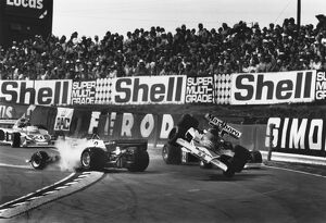 1976 British Grand Prix: Clay Regazzoni, retired, crashes into Niki Lauda, 1st position