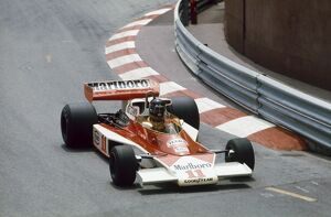 1976 Monaco Grand Prix - James Hunt: James Hunt, McLaren M23-Ford. Action