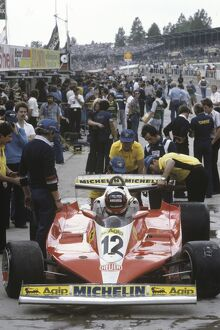 1978 British Grand Prix - Gilles Villeneuve: Gilles Villeneuve, retired, on the starting