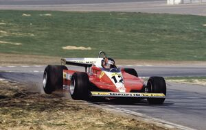 1979 Race of Champions: Gilles Villeneuve, 1st position, action