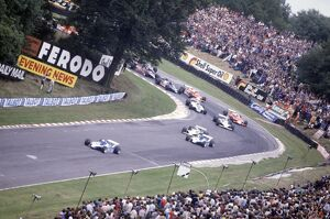 1980 British Grand Prix: Didier Pironi leads Jacques Laffite, Alan Jones, Carlos Reutemann