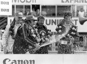 1981 Tourist Trophy: Tom Walkinshaw and Chuck Nicholson - left on the podium after victory