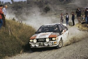 1982 World Rally Championship: Michele Mouton / Fabrizia Pons, 4th position, action