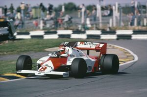 1983 European Grand Prix: Niki Lauda, retired, action