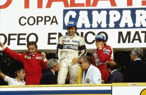 1983 Italian Grand Prix: Nelson Piquet 1st position, Rene Arnoux 2nd position