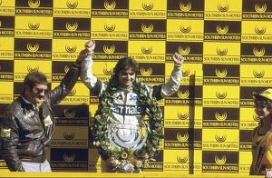 1983 South African Grand Prix: Nelson Piquet 3rd position, podium
