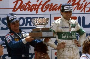 1983 United States Grand Prix: Michele Alboreto 1st position, Keke Rosberg 2nd position