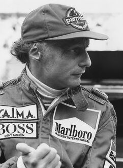 1984 Belgian Grand Prix: Zolder, Belgium. 27th - 29th April 1984. Niki Lauda, retired, portrait