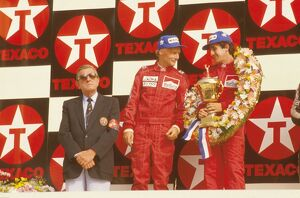 1984 Dutch Grand Prix: Alain Prost, 1st position with teammate Niki Lauda, 2nd position
