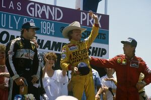 1984 United States Grand Prix: Keke Rosberg 1st position, Elio de Angelis 2nd position