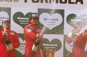 1986 Austrian Grand Prix: Alain Prost 1st position, Michele Alboreto, 2nd position
