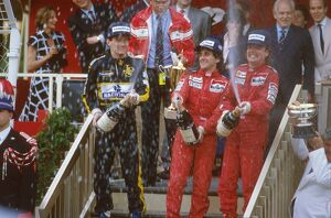 1986 Monaco Grand Prix: Alain Prost, 1st position, Keke Rosberg, 2nd position