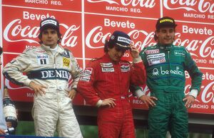 1986 San Marino Grand Prix: Alain Prost 1st position, Nelson Piquet 2nd position