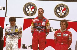 1987 French Grand Prix: Nigel Mansell 1st position, Nelson Piquet 2nd position