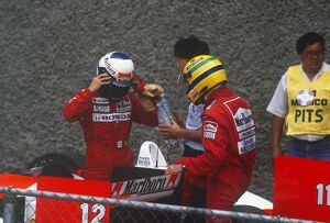 1988 Mexican Grand Prix: Ayrton Senna, 2nd position and Alain Prost 1st position