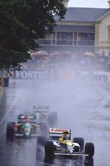 1989 Australian Grand Prix: Thierry Boutsen 1st position, with the Benetton B189