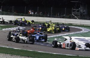 2000 German Grand Prix: Ricardo Zonta is followed through the chicane by Ralf Schumacher