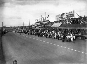 Ards, Northern Ireland, Great Britain. 7 September 1935: The cars line up in front