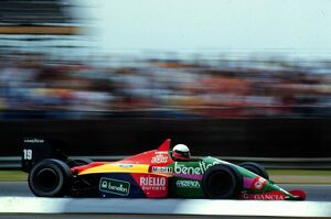 Benetton's Teo Fabi finshes 6th at Silverstone: 1987 BRITISH GP