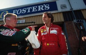 grand prix decades/1990s 1993 formula 1 britain/formula world championship johnny herbert left