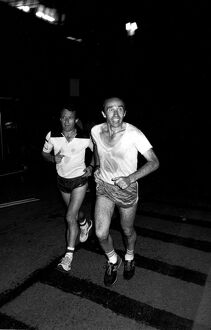 Frank Williams and Jackie Oliver jogging before: FRANK WILLIAMS HISTORY