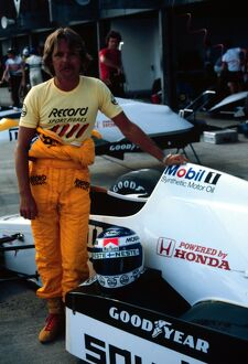 Keke Rosberg stands by his new Williams Honda car for the '84 coming season