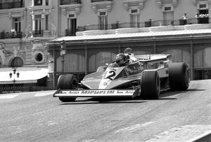 Monte-Carlo, Monaco. 5th - 7th May 1978: Gilles Villeneuve, retired due to a front tyre bursting