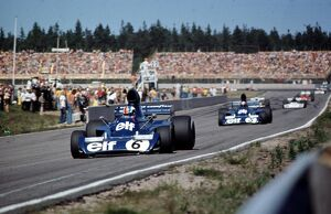 Swedish Grand Prix, Monte Carlo, 17th June 1973: Francois Cevert leads Jackie Stewart