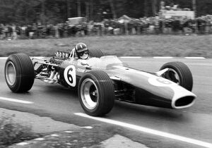 Watkins Glen, United States. 1 October 1967: Graham Hill, Lotus 49-Ford, 2nd position
